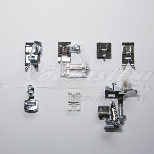 Presstaldade 7-osaline komplekt õmblusmasin Juki mudelitele
