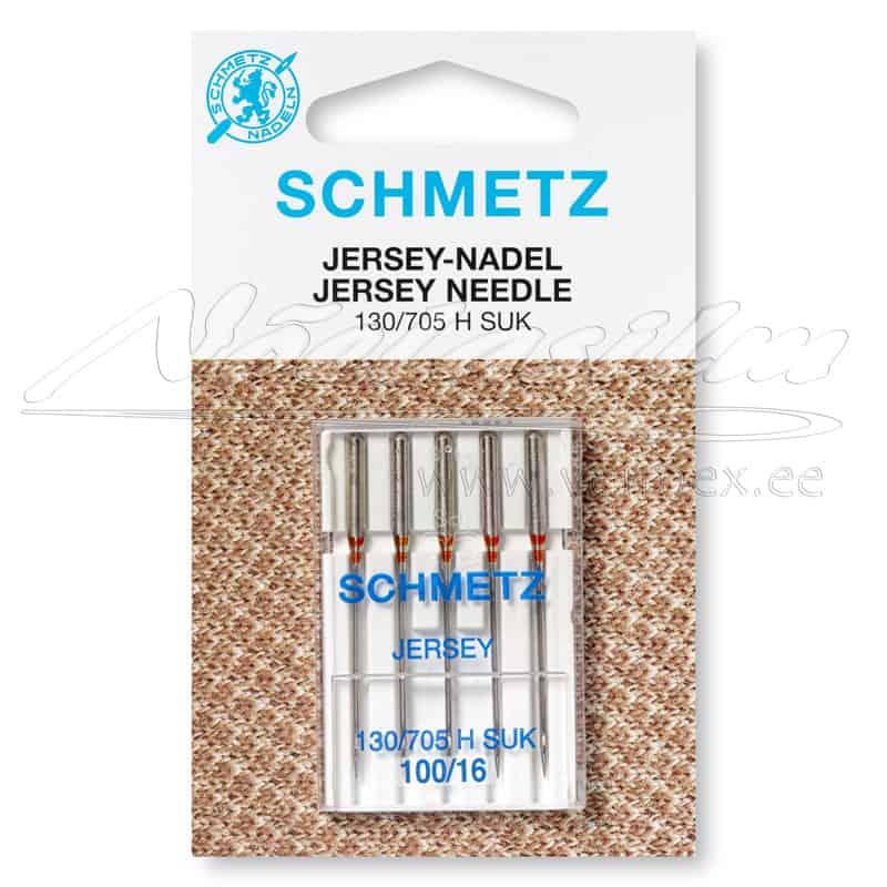 Õmblusmasina-Nõelad-Schmetz-130-705-H-S-Jersey-SUK-100-16