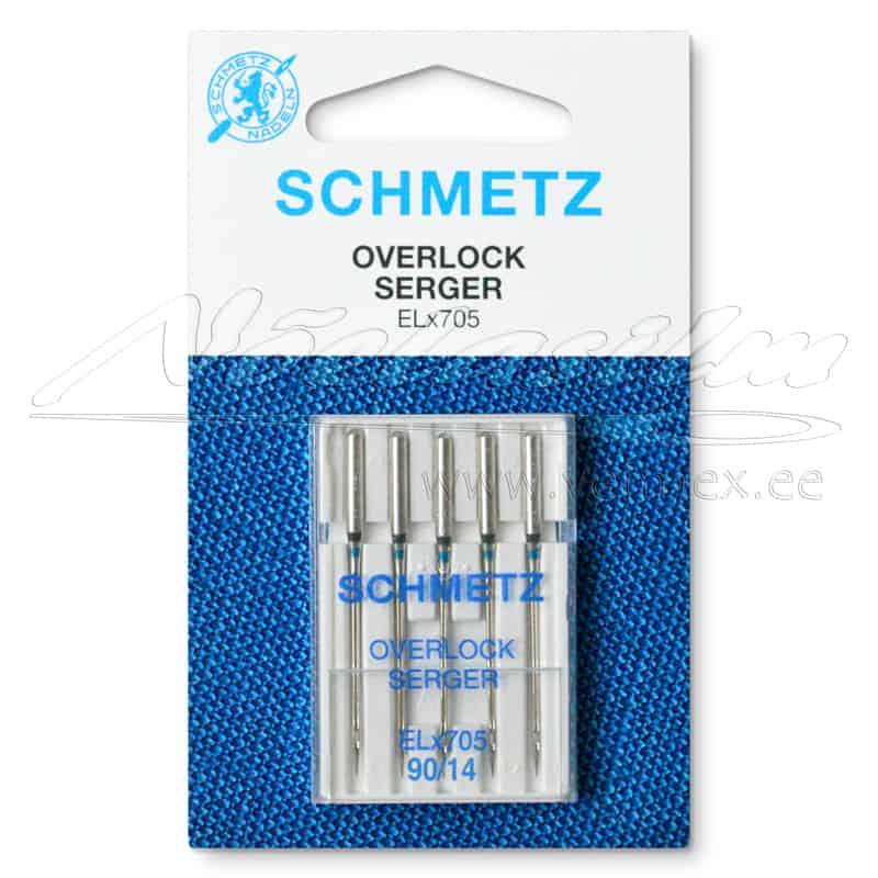 Overlok õmblusmasina Nõelad Schmetz-ELx705 - 5 x 90/14