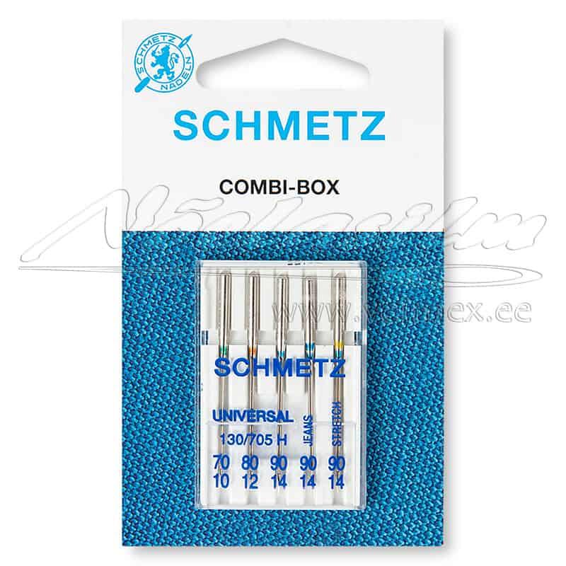 Nõelad Schmetz 130-705 H Combi-Box erinevad suurused