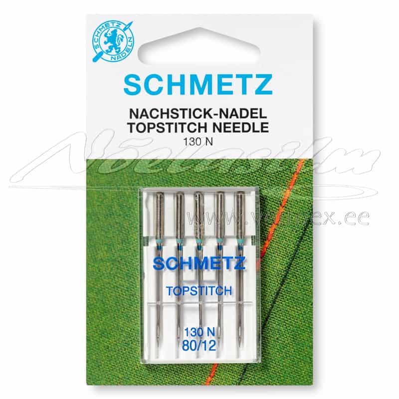 Õmblusmasina Nõelad Schmetz 130 N Topstitch 5x80/12