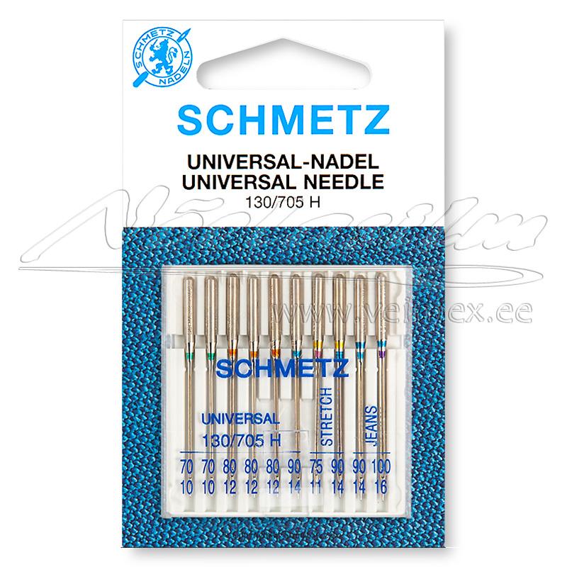 Nõelad Schmetz 130-705 H Combi-Box erinevad suurused 10 tükki