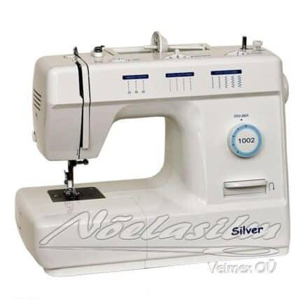 Lihtsamat tüüpi, metallhammasratastega, tugeva ja kvaliteetse konstruktsiooniga õmblusmasin Silver 1002. Võimalik õmmelda erinevaid materjale.